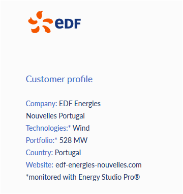 BaxEnergy Customer EDF Portugal