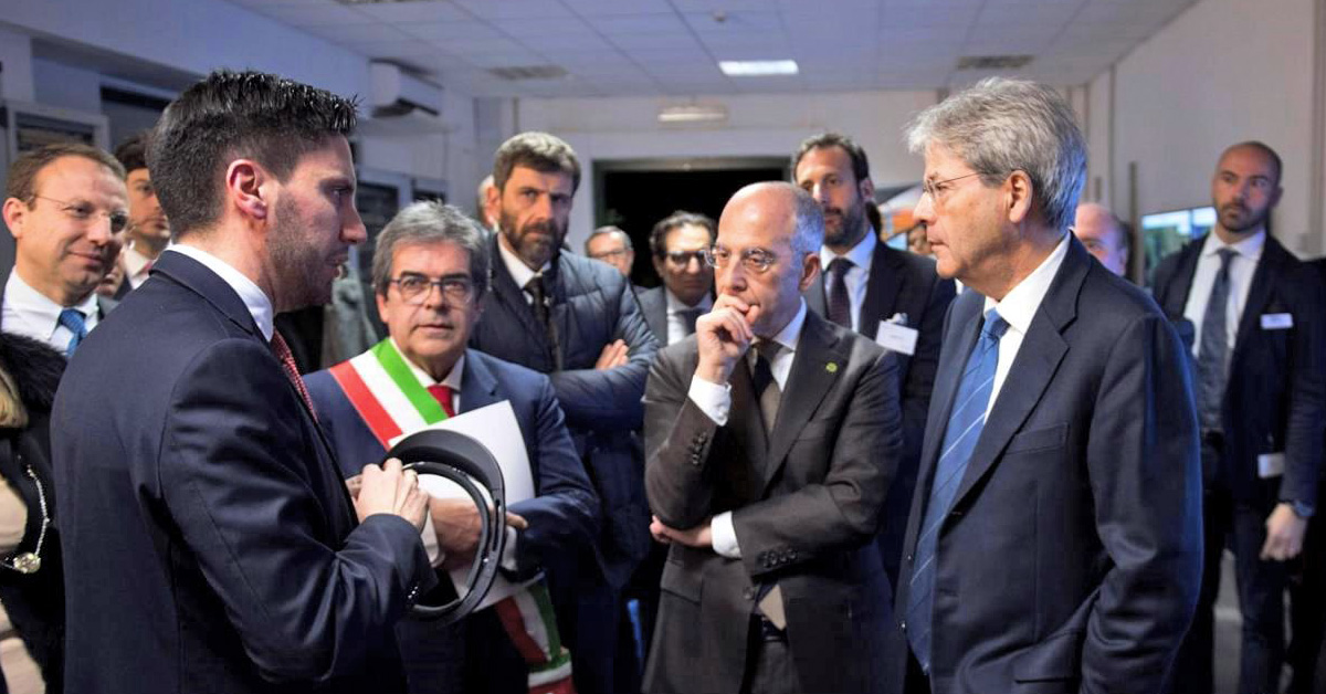 Italy's Prime Minister Paolo Gentiloni meets Dr. Simone Massaro, BaxEnergy CEO