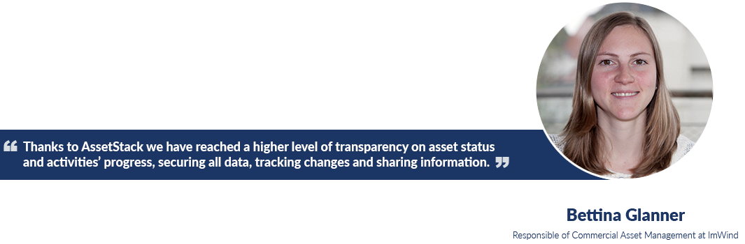 With AssetStack ImWind improves its operational efficiency, obtaining significant savings