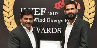 BaxEnergy and POWERCON awarded two Leadership Gold Awards at the India Wind Energy Forum 2017