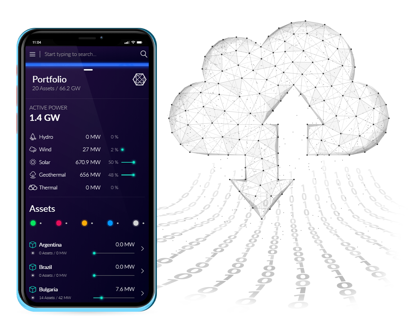 Host Data in Cloud and manage with Mobile BaxEnergy