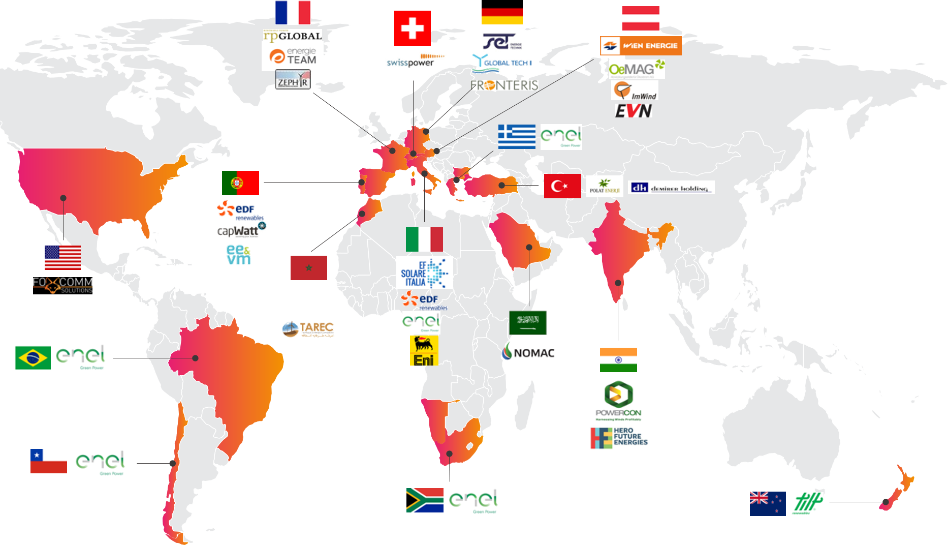 International Projects and Customer Map BaxEnergy